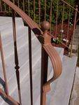 """Ronde"" style railing with optional flaired front and cast ball finials"