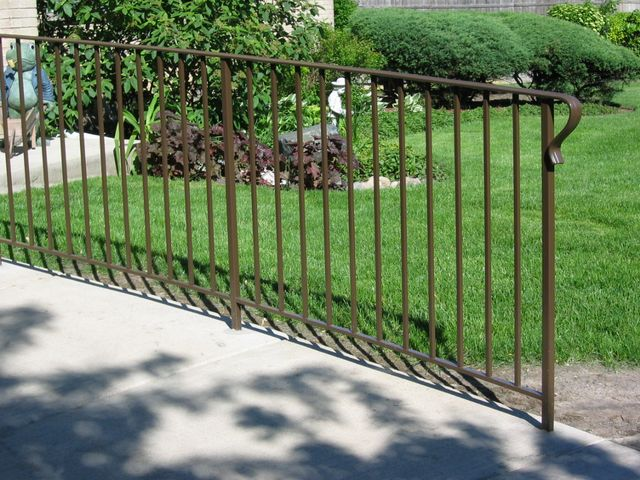 Standard Railing, square 1/2 in. balusters.