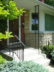 """Clean & Simple"", Plain Railing & Trellis."