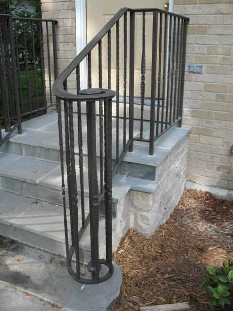 Residential Railing, Full lateral scroll front, SF-