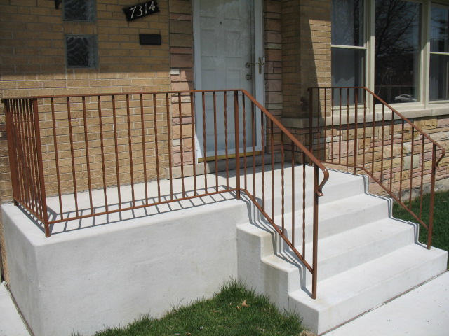 Traditional Railings, Color: Walnut