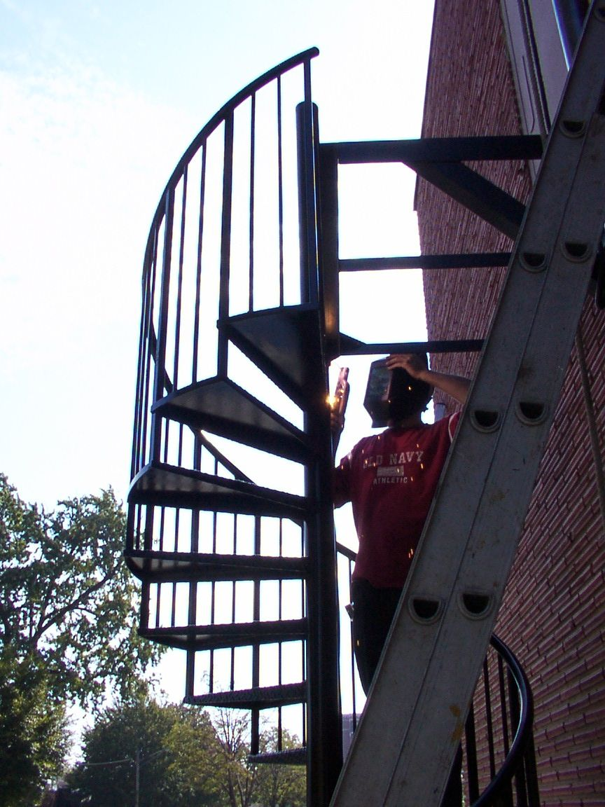 Spiral Stairs United States Postal Service Building.  Welder: Mike Jaeger