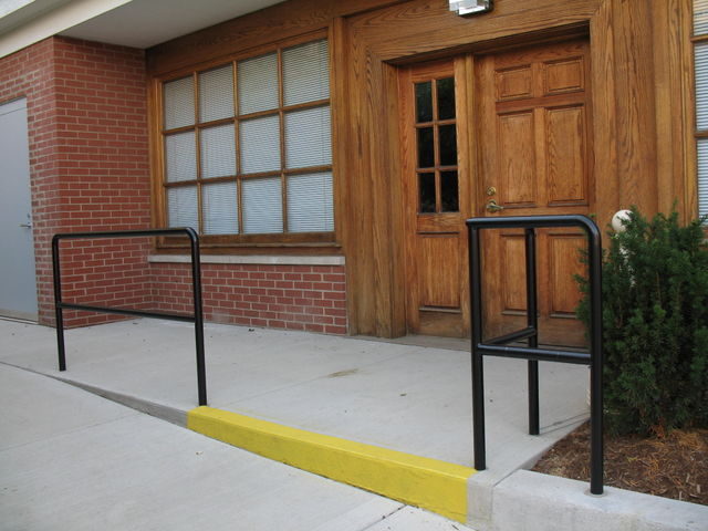 Des Plaines Post Office Annex., 1-1/2 Diameter tubular railing, Powder Coated Black