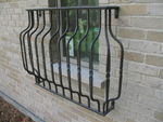 Juliette Balcony Grill, SF/64/H/4 balusters, bronzetone